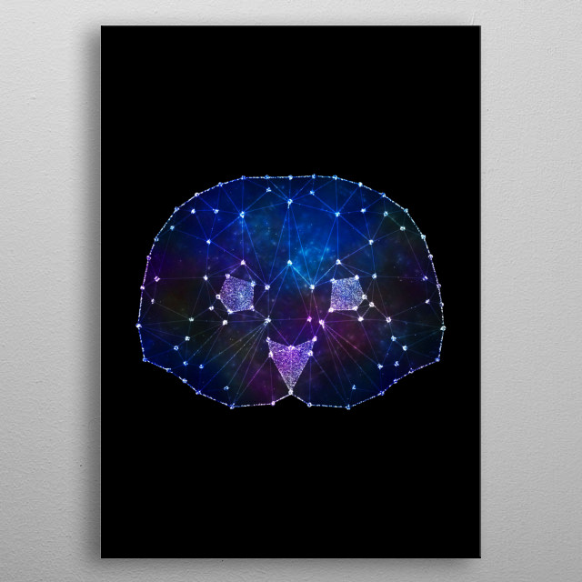 Owl with galaxy dream effects metal poster