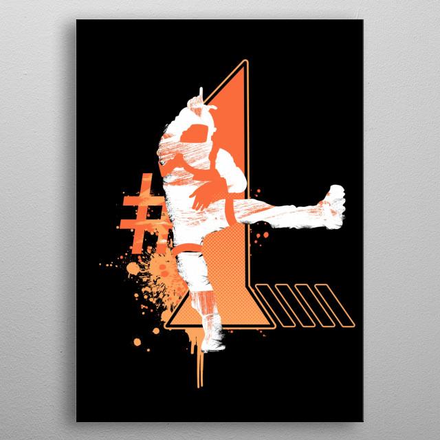 Take The L Orange metal poster