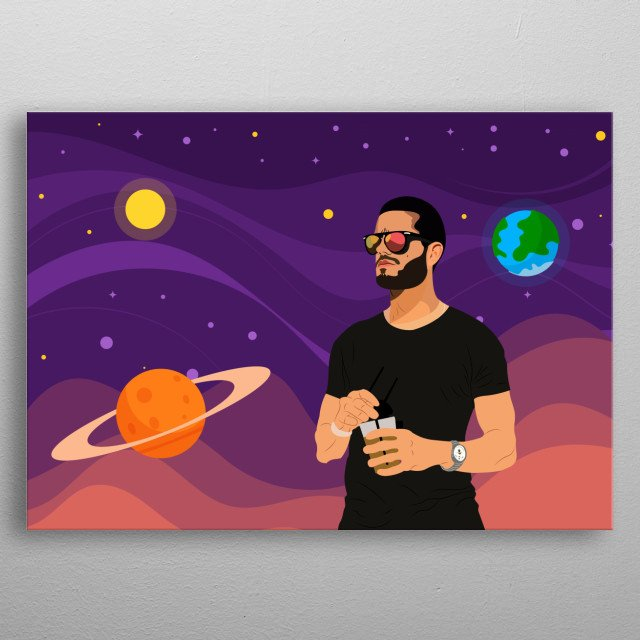 Inspired by a interstellar movie .  I did a illustration of a friend, but i wasn`t  really liking the background so why not a interstellar  metal poster