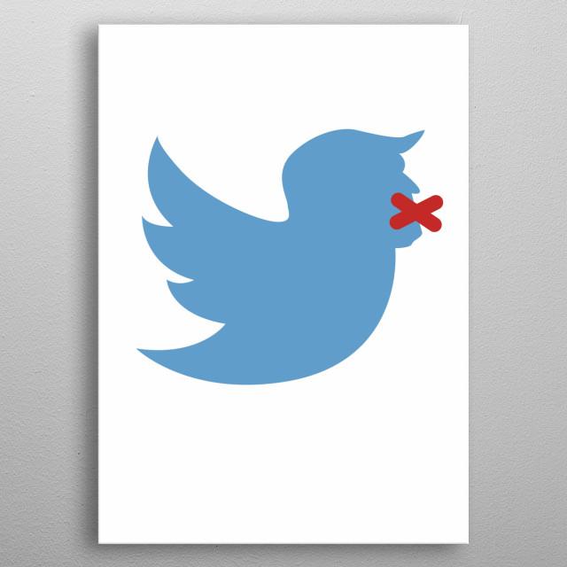 Donald Tweet metal poster