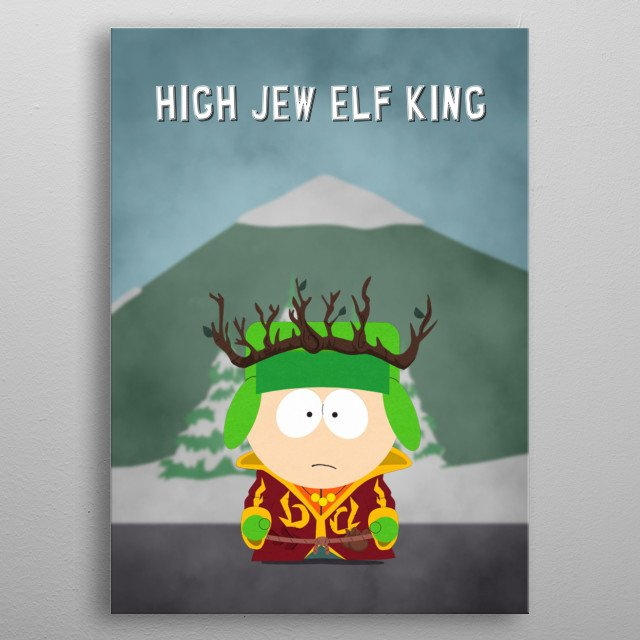 Character artwork inspired by the popular South Park: The Stick Of Truth video game. metal poster
