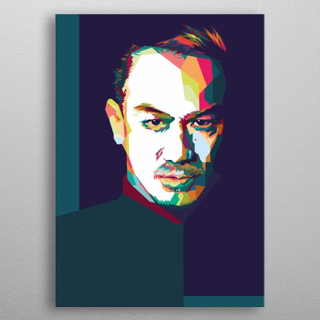 indonesia action actor pop art potrait metal poster