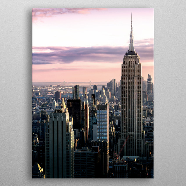 Empire building metal poster
