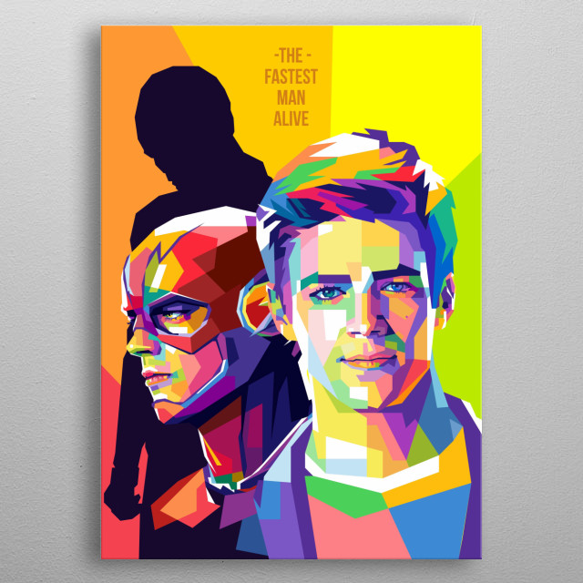 Thomas Grant Gustin,  American actor, and singer. He is known for his role The Flash on the CW series. metal poster