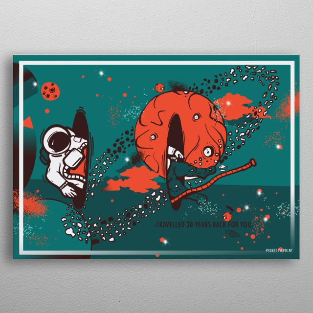 Inspired by Interstellar movie. metal poster