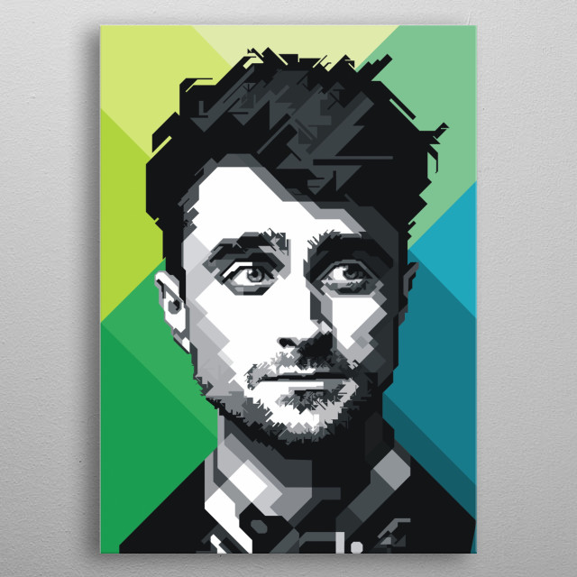 Daniel Jacob Radcliffe is a British actor known for his role as Harry Potter in the film series of the same name metal poster