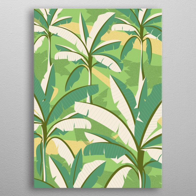 the artwork inspired by banana trees plantation in my village and country metal poster