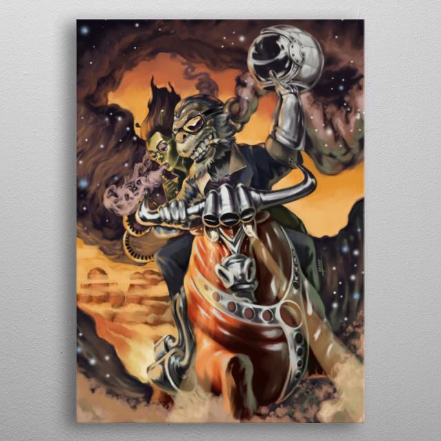 digital painting  metal poster