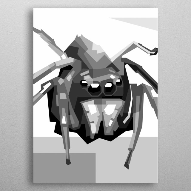 a very deadly little spider metal poster