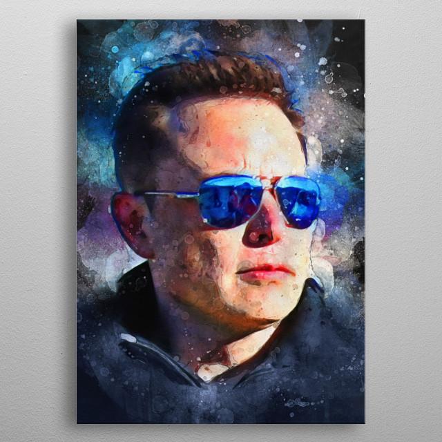 Elon Musk metal poster