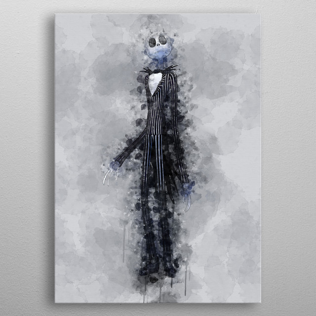 Jack Skellington from The Nightmare Before Christmas metal poster