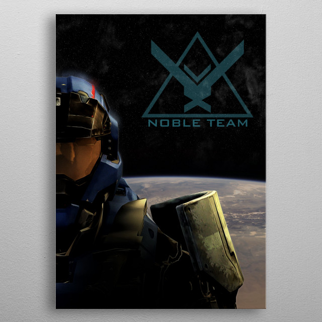 You're on your own Noble Six metal poster