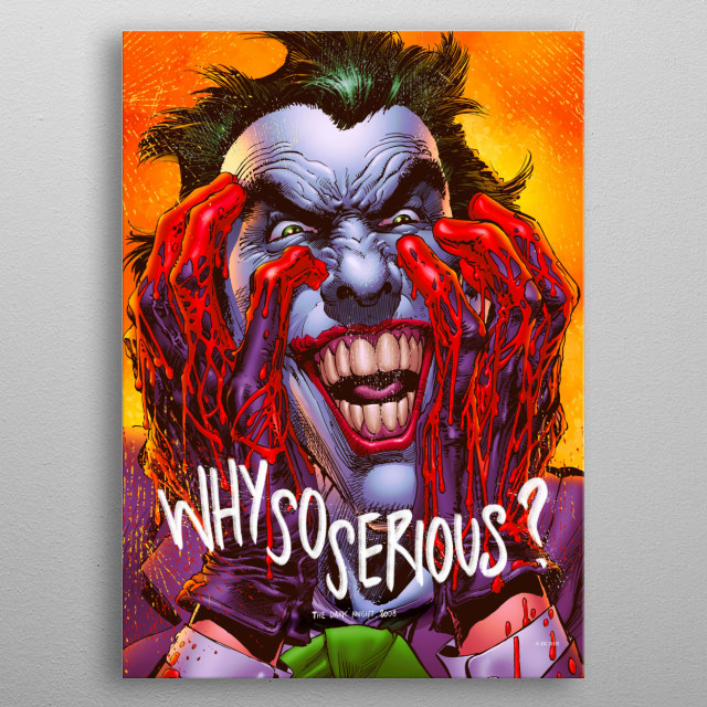 Why So Serious? metal poster
