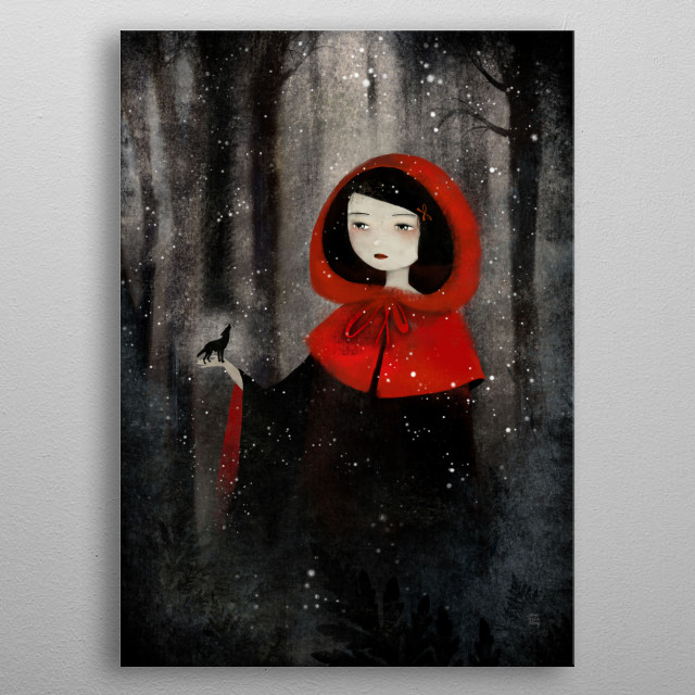 Little Red Riding Hood Fantasy Poster Print Metal Posters
