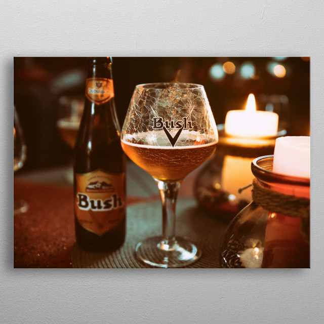 Belgian Beer : Bush Amber from Dubuisson metal poster