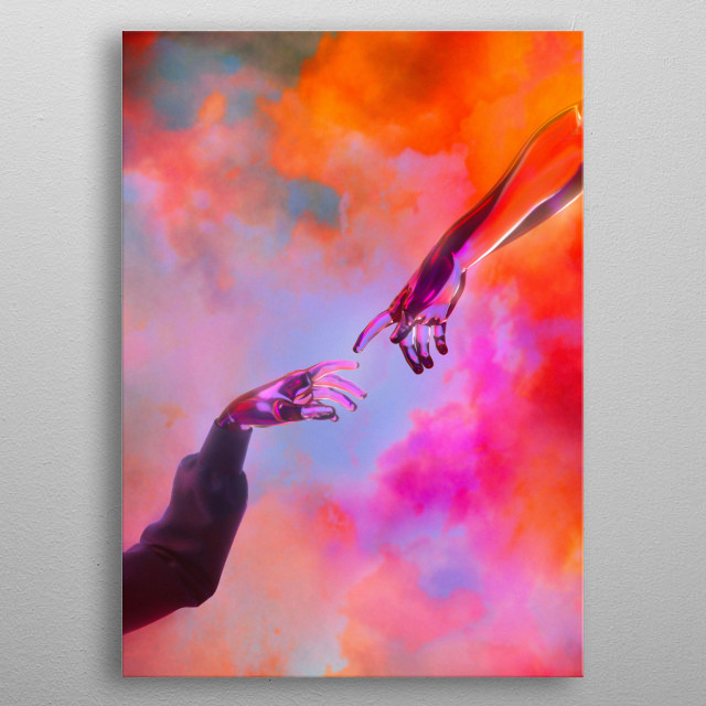 La Création d'Adam - Dorian Legret x AEFORIA Art. metal poster