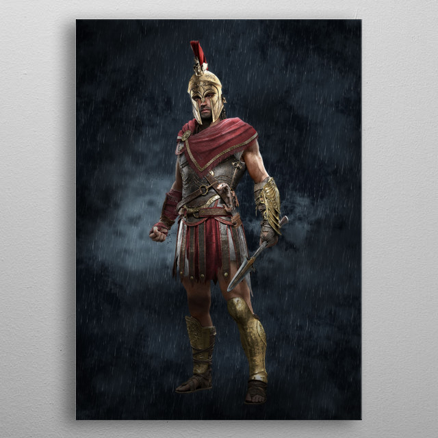 Alexios, the grandson of King Leonidas metal poster