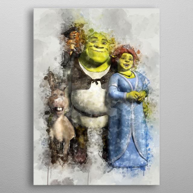 Shrek metal poster
