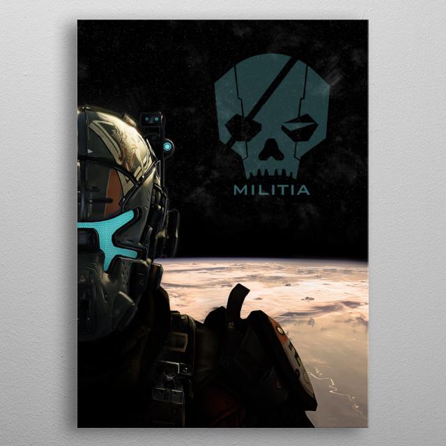 Militia metal poster