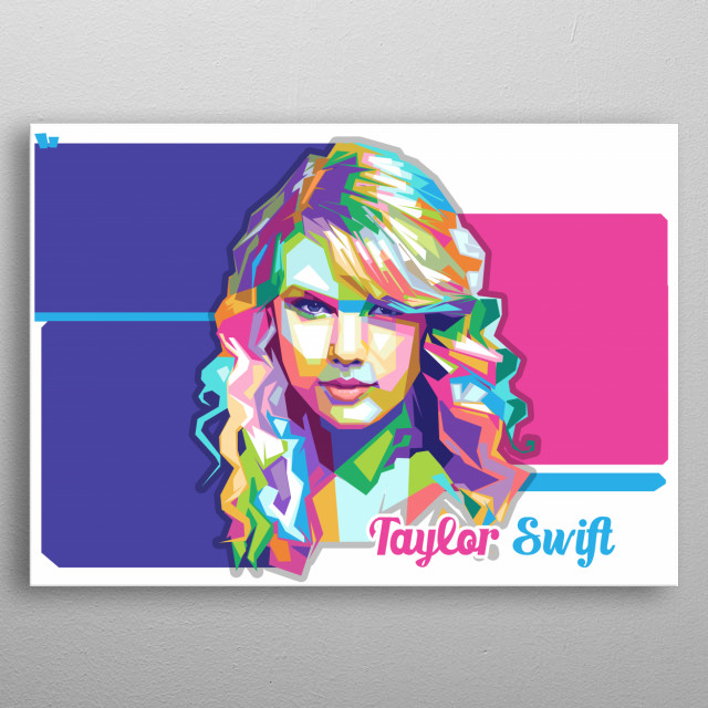 Taylor Swift, born December 13, 1989, is an American singer-songwriter metal poster