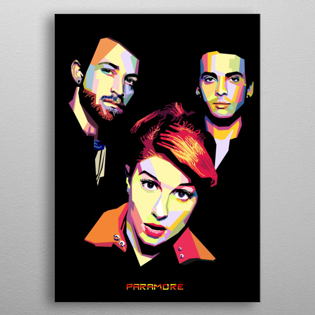 Paramore is an American rock band from Franklin, Tennessee, formed in 2004. The band currently consists of lead vocalist Hayley Williams metal poster