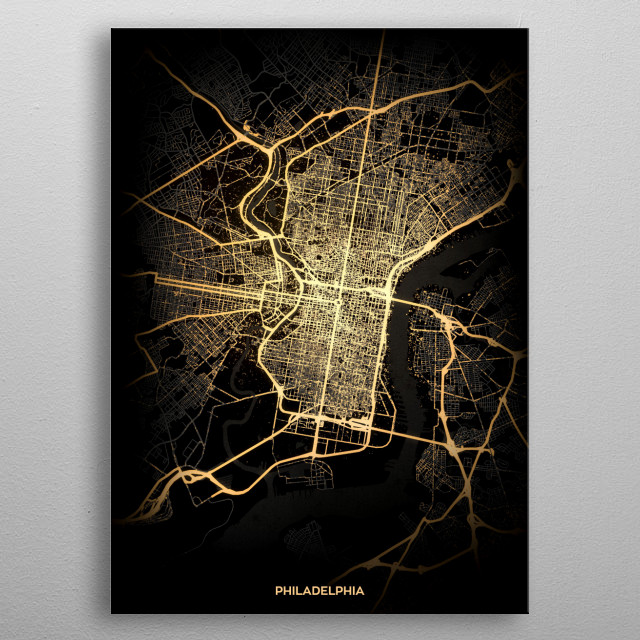 Philadelphia, USA metal poster