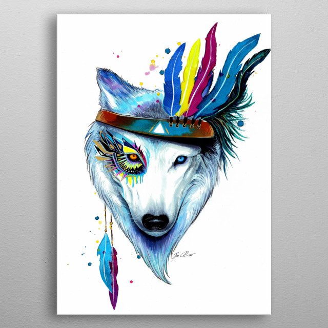 Inspired by the beauty of the native americans and nature. metal poster