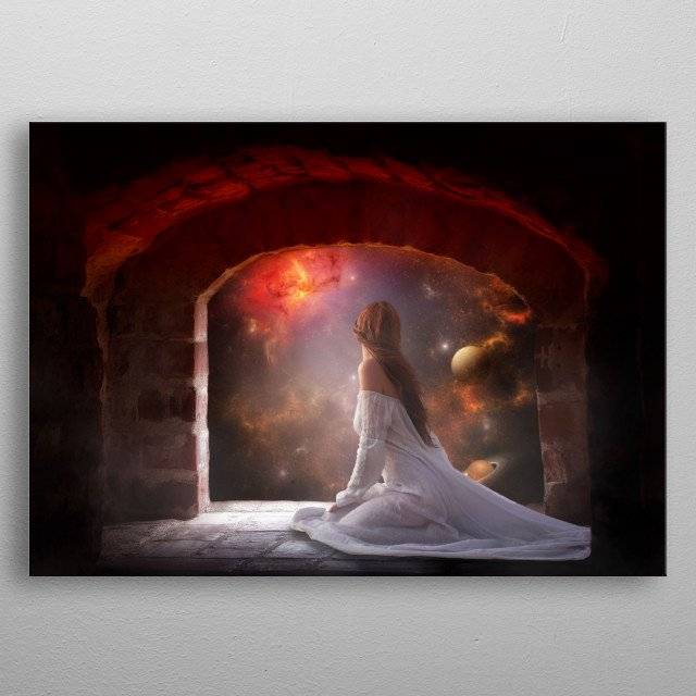 A window to the univers metal poster