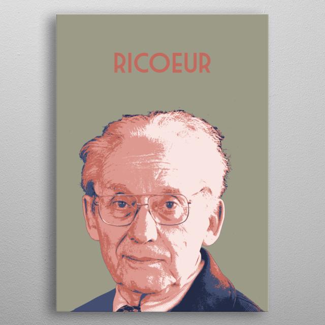 Paul Ricœur metal poster