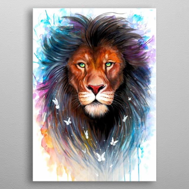 The sacred spiritual king of all animals. metal poster