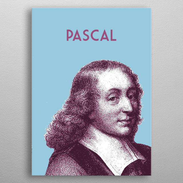 Blaise Pascal metal poster