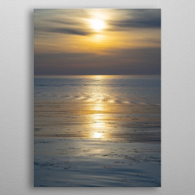 Beautiful Sunrise For Meditation And Relax Metal Poster