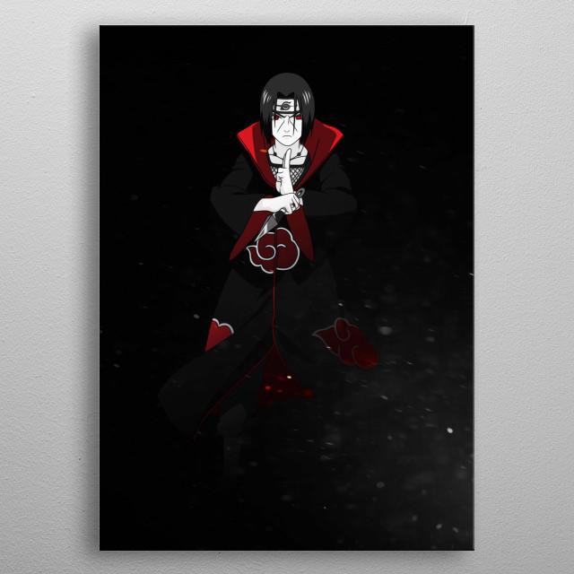 Itachi Uchiha from Naruto Shippuden metal poster