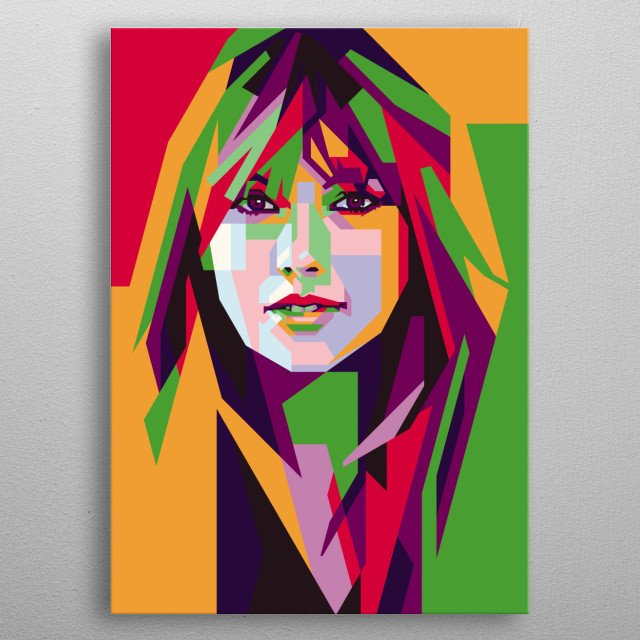 Taylor Alison Swift is an American singer-songwriter. As one of the world's leading contemporary recording artists metal poster