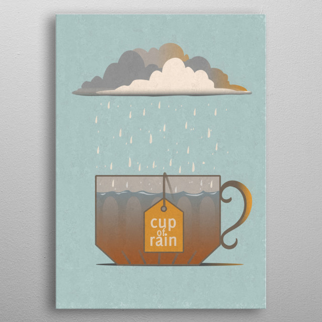 inspired by time and memories in rainy day metal poster