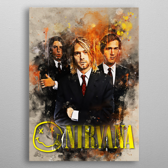 Nirvana is the name of a band from the City of Aberdeen, Washington, United States metal poster