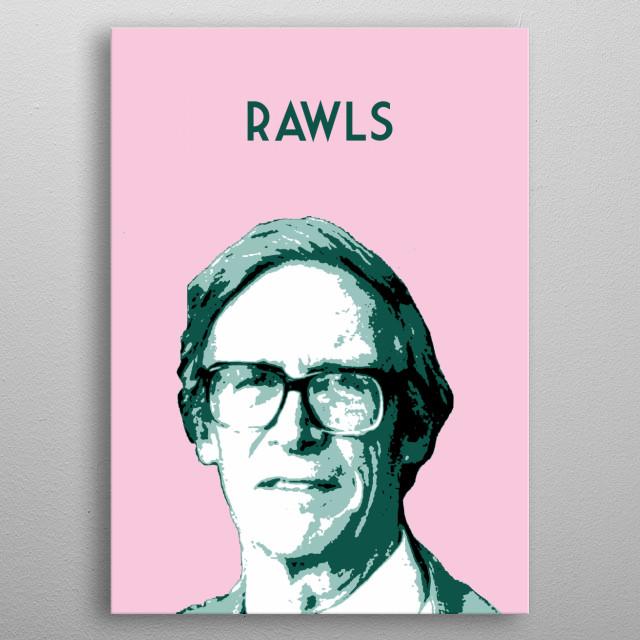 John Rawls metal poster