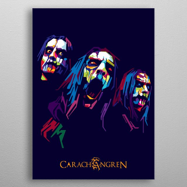 Carach Angren a symphonic black metal band from the Netherlands formed by two members of the now-defunct bands  Inger Indolia and Vaultage metal poster
