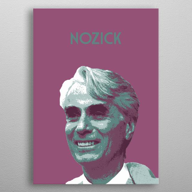 Robert Nozick metal poster