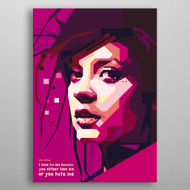 Lily Rose Beatrice Cooper, known professionally as Lily Allen, is an English singer, songwriter, author, and television presenter metal poster