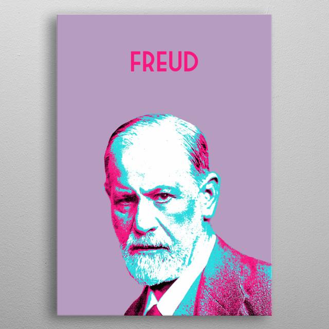 Sigmund Freud metal poster