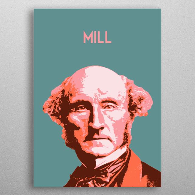 John Stuart Mill metal poster