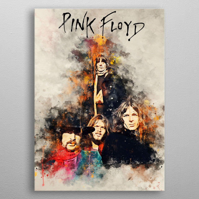 Pink Floyd was a 1971 British band of psychedelic rock and Progressive rock which was famous for its composition of bombastic-style songs metal poster