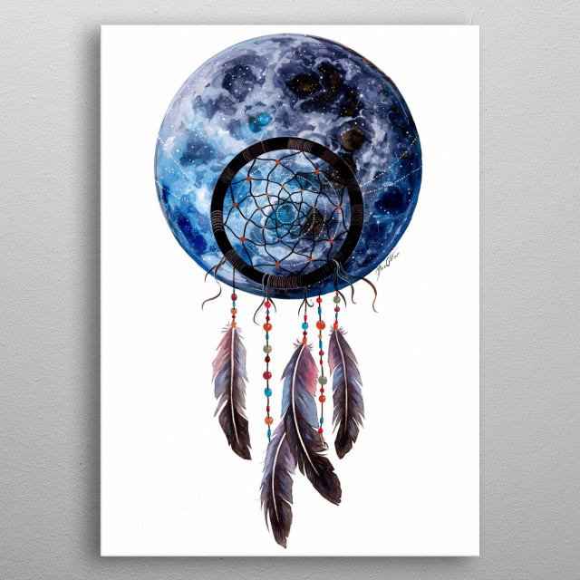 Perfect for you bedroom to get good dreams and a deep sleep. metal poster