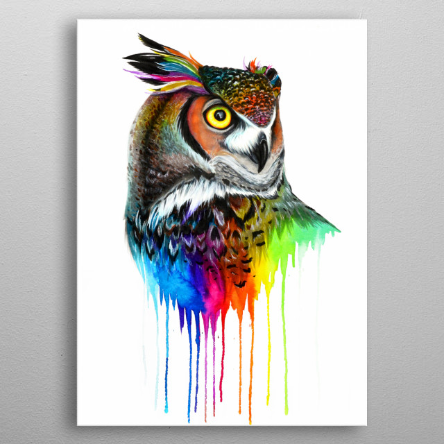 For all owl lovers out there. metal poster