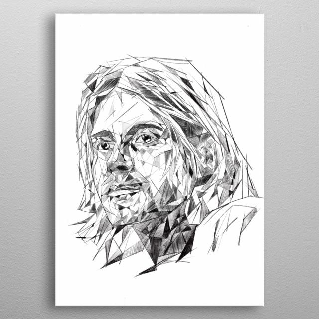 Kurt Cobain - pop culture collection metal poster