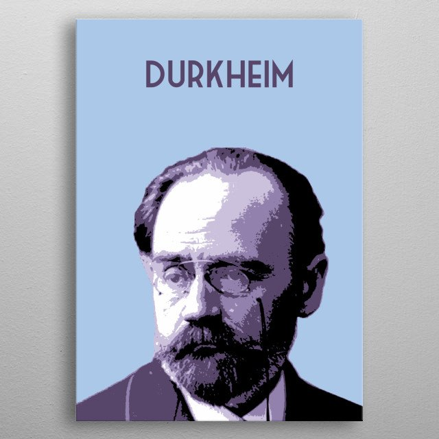 Émile Durkheim metal poster
