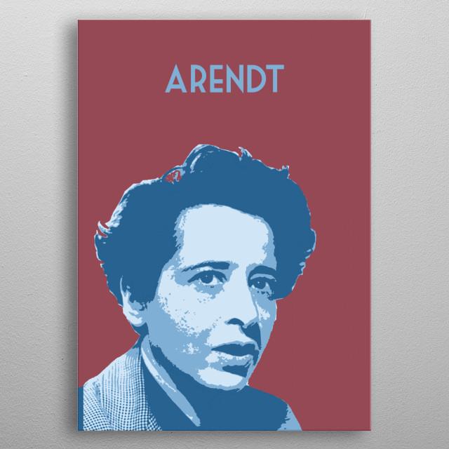 Hannah Arendt metal poster