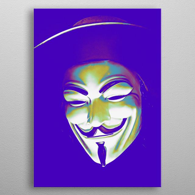 Urban Pop Art. Guy Fawkes inspired. metal poster