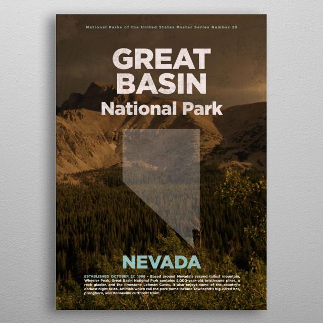 Great Basin Nevada National Park metal poster